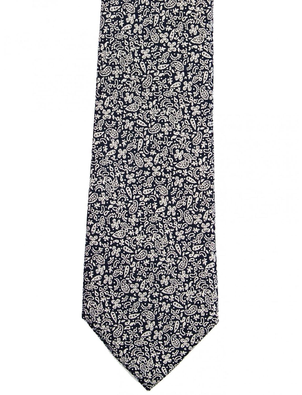 Bruce Field-Corbata de seda pura, diseño de cachemira, color azul ...