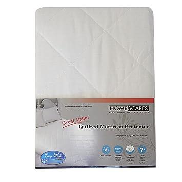 Homescapes Protector de colchón acolchado de Lujo de 150 x 200 antiacaros y Hipoalergénico: Amazon.es: Hogar