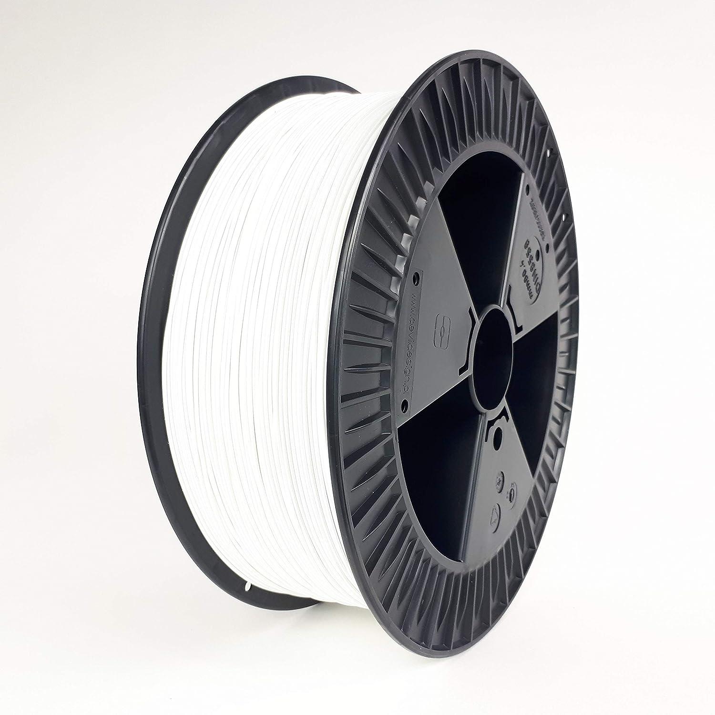 Filamento PETG para pulsador 3D en 2 kg, blanco, filamento PET-G ...