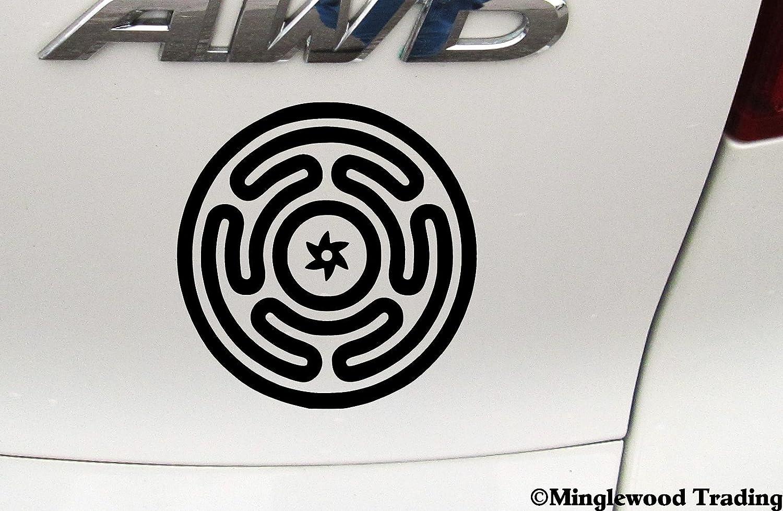 vinyl stickers decals Witchcraft Hacate/'s Wheel Wicca exterior Wica
