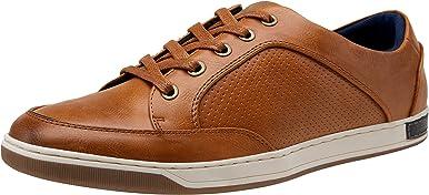 VOSTEY Zapatillas de deporte de moda para hombres de negocios Oxfords