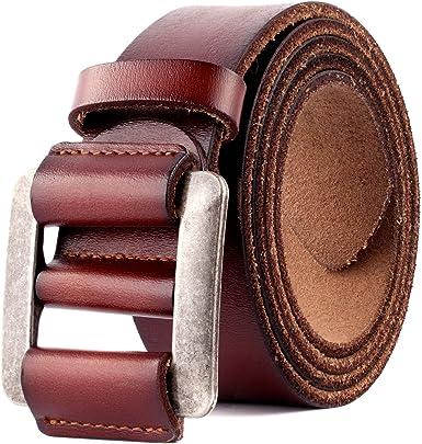 Jocose Moose Cinturón de Cuero Genuino Para Hombres - Cinturones ...