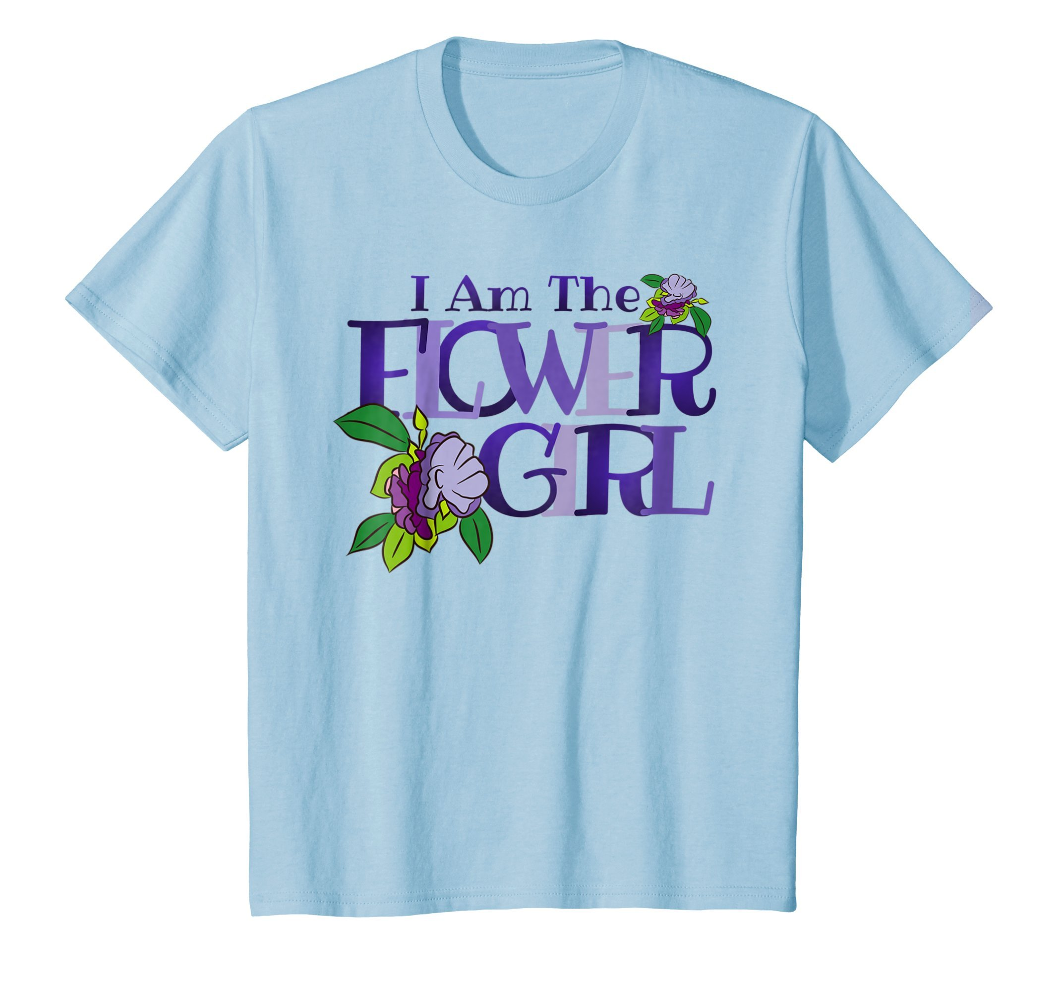 Kids Cute Flower Girl T Shirt Bridal Wedding Party Gift 6 Baby Blue