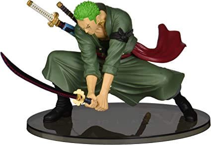 Amazon Com One Piece Roronoa Zoro 5 1 Scultures Big X Banpresto Figure Colosseum Iv 1 Official Trading Card Bundle Toys Games