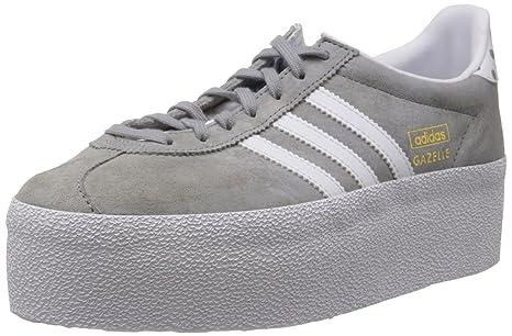 Platform Og Adidas Grigio Scarpe Up Gazelle Pelle Sneakers Ef fgwwqE5A