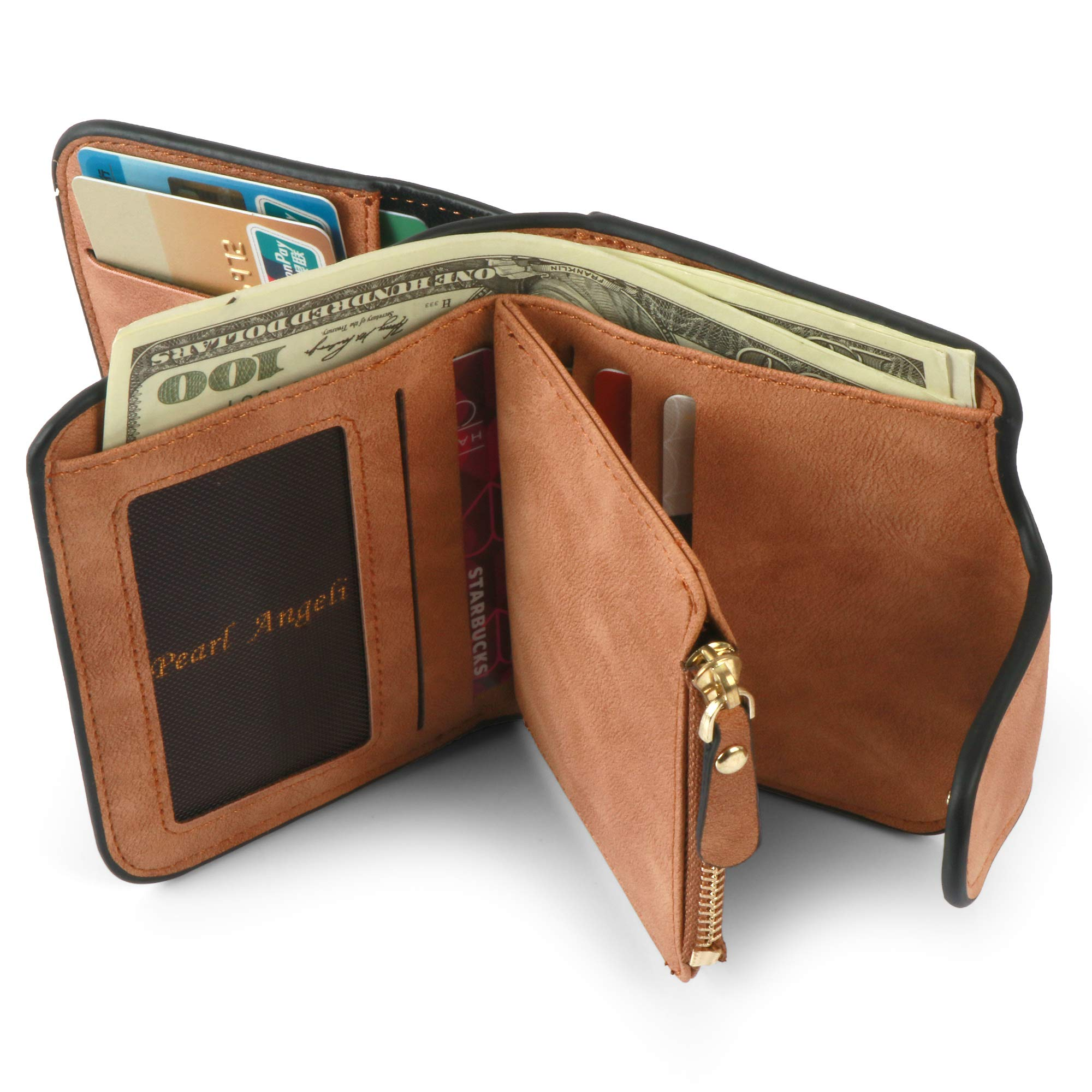 Women Purse Fashion Pu Leather Cute Clutch Small Ladies Credit Card Holder Wallet Organizer For Female Color - Brown by Pearl Angeli (Image #6)