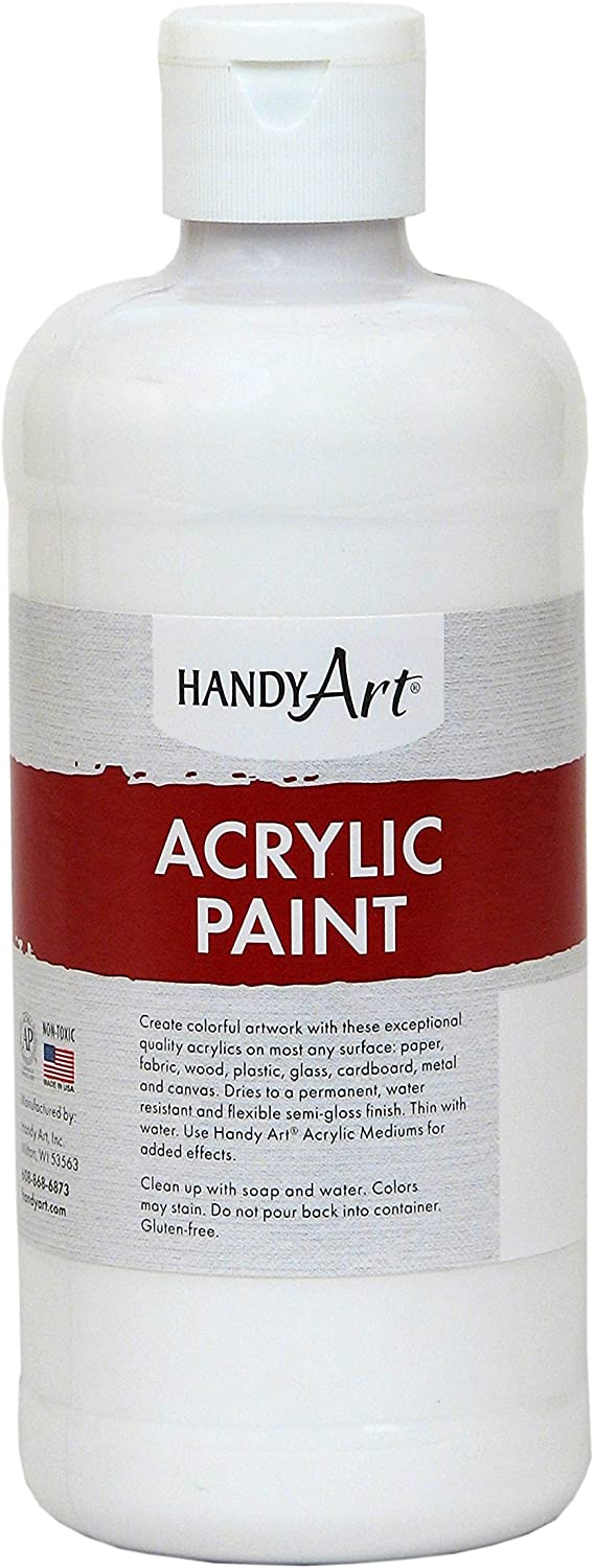 Handy Art Student Acrylic Paint 16 ounce, Titanium White