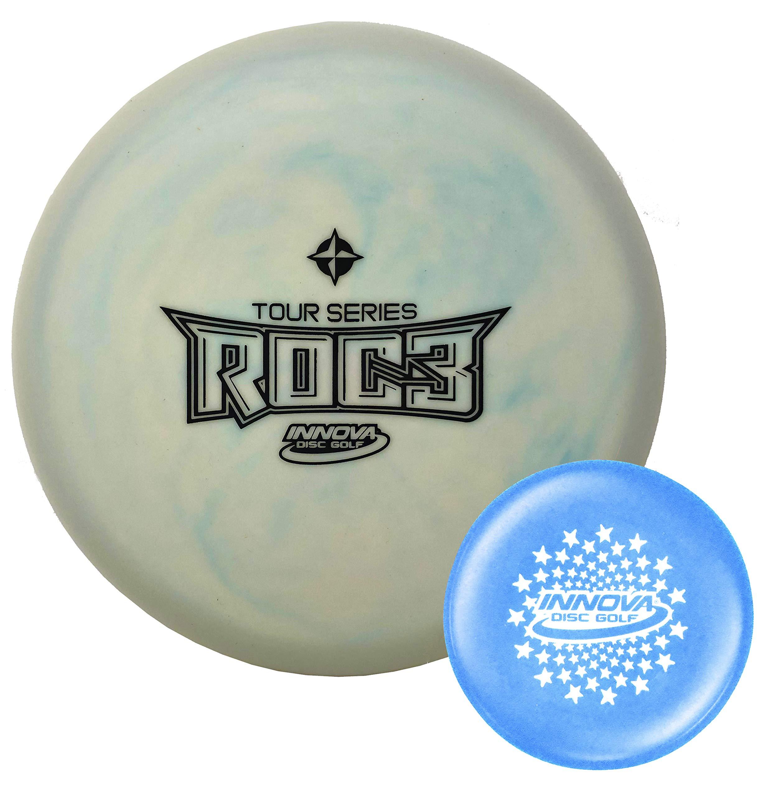 Innova Disc Golf Tour Series Glow Pro Roc3 Mid-Range Disc 178-180g with Stars Stamp Innova Mini (Colors Will Vary)