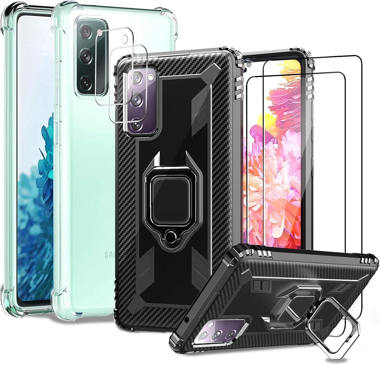 2 Fundas Y 4 Vidrios Protectores Para Samsung Galaxy S20 FE