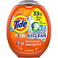 73-Count Tide Pods Coldwater Clean Liquid Laundry Detergent Pacs, Fresh Scent