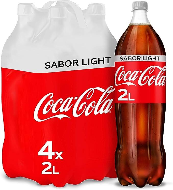 Coca-Cola Light Botella - 2 l (Pack de 4): Amazon.es: Alimentación ...