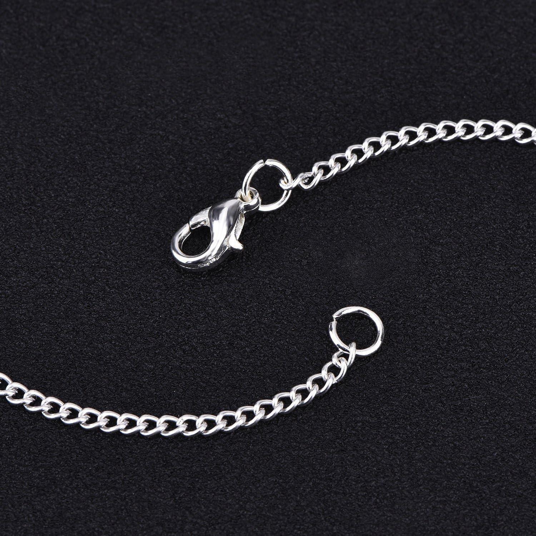 12 Piezas de Cadena Chapado de Plata Collares de Cadena de Enlace y Collar de Cadena Cruzada Torcida 18 Pulgadas
