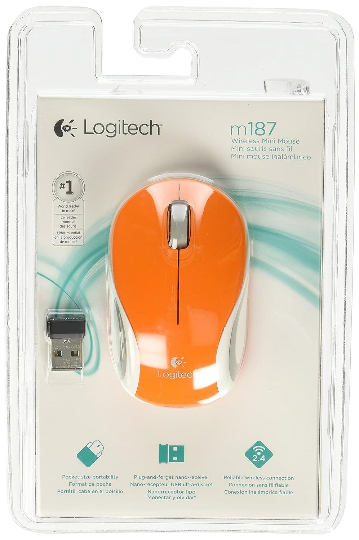 Logitech Wireless Mini Mouse M187 Computers Accessories White