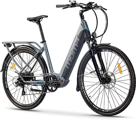 Moma Bikes Bicicleta Eléctrica Urbana EBIKE-28 Pro, Shimano 7vel, frenos hidráulicos, batería Integrada Litio 48V 13Ah (624Wh): Amazon.es: Hogar