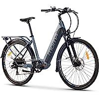Moma Bikes Bicicleta Eléctrica Urbana EBIKE-28 Pro, Shimano 7vel, frenos hidráulicos,…