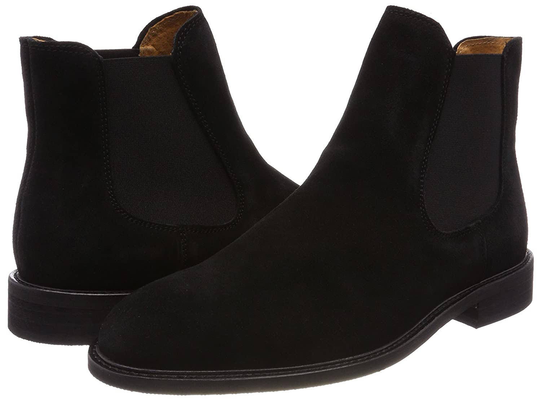 26883bd909bd ... Selected Herren Shdbaxter Schwarz Suede STS Chelsea Boots Schwarz  Shdbaxter (Black) bd70cd ...