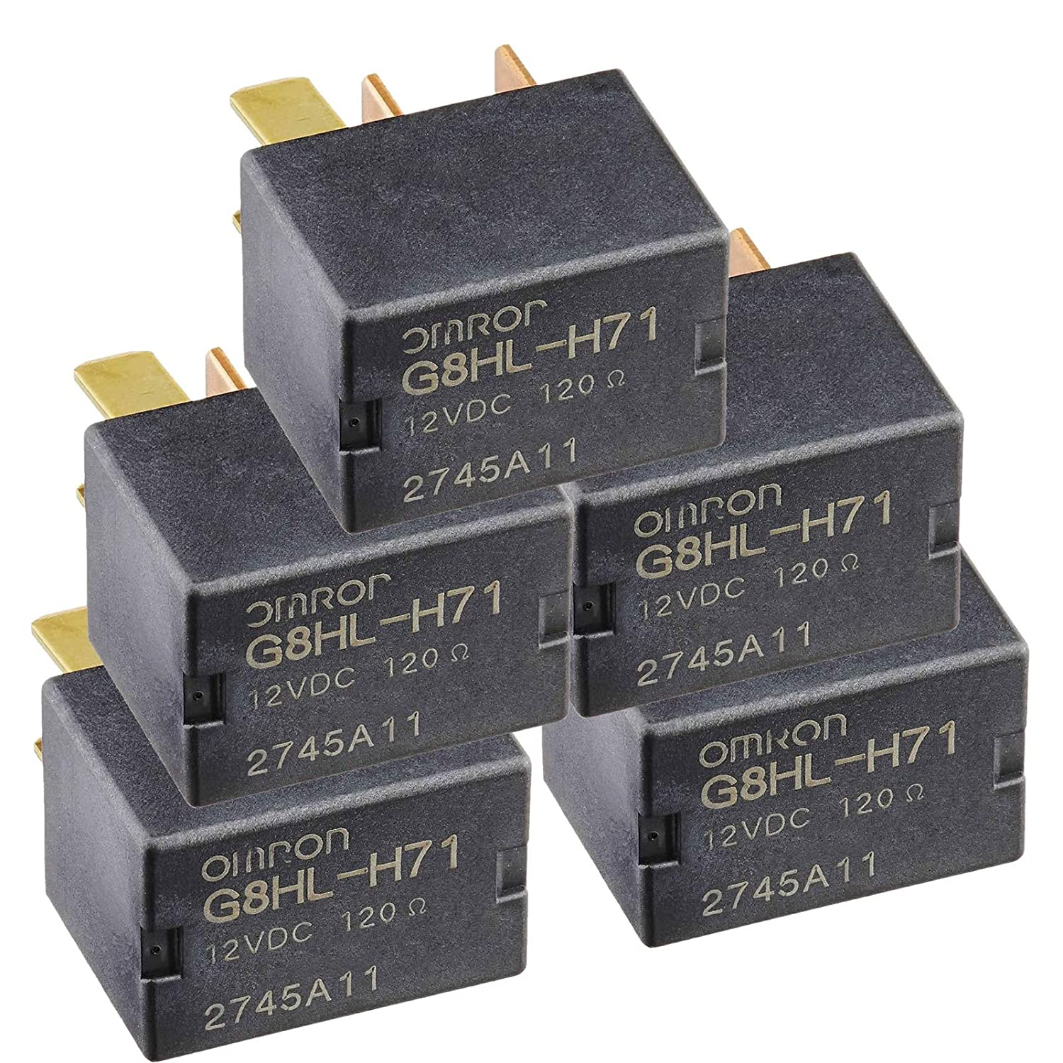 5 Pack G8HL-H71 AC and Starter Relay 39794-SDA-A03 39794-SDA-A05 Compatible for Crosstour CR-V CR-Z Element Insight Odyssey Pilot Acura TL TSX MDX