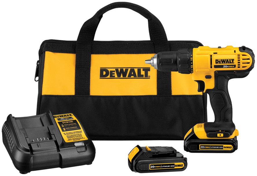 Shop DEWALT 20-Volt Max Lithium Ion (Li-ion) 1/2-in Cordless Drill with Battery and Soft Case at Lowes.com