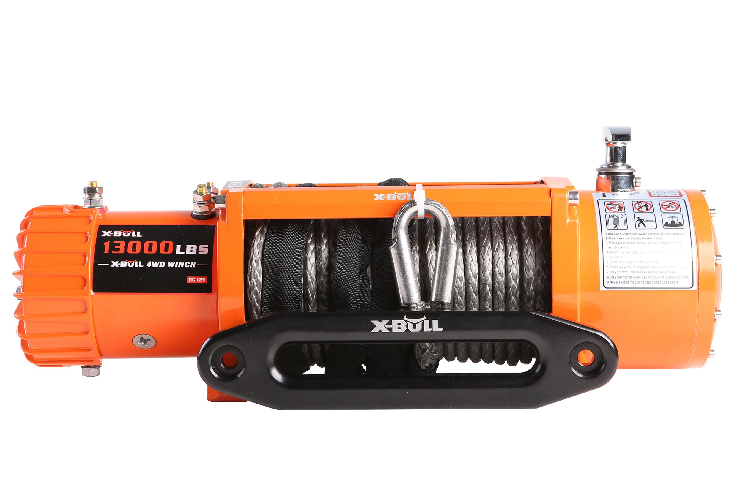 X-BULL 12V Waterproof Synthetic Rope Winch-13000 lb. Load Capacity IP67 by X-BULL (Image #2)
