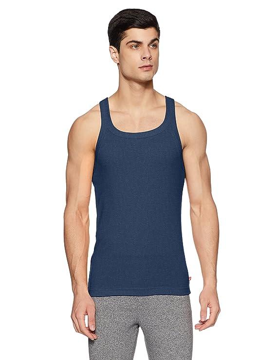 Jockey Men's Cotton Square Neck Vest(Colors & Print May Vary) Men's Underwear Vests at amazon