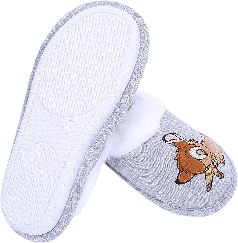 Pantoufles : Bambi Disney : Papiers Gris :