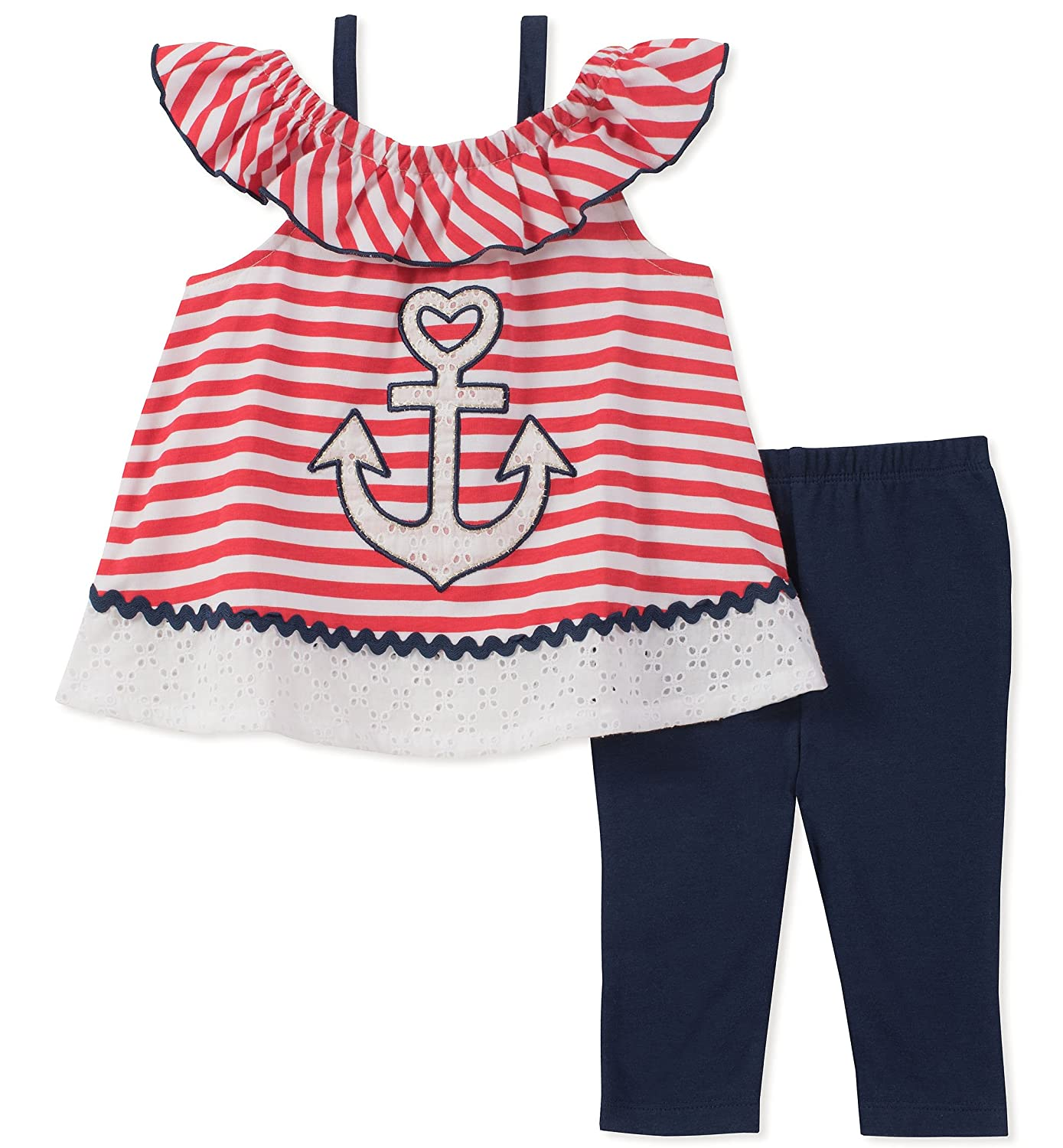 Kids Headquarters Girls' Tunic Set-Capsleeves