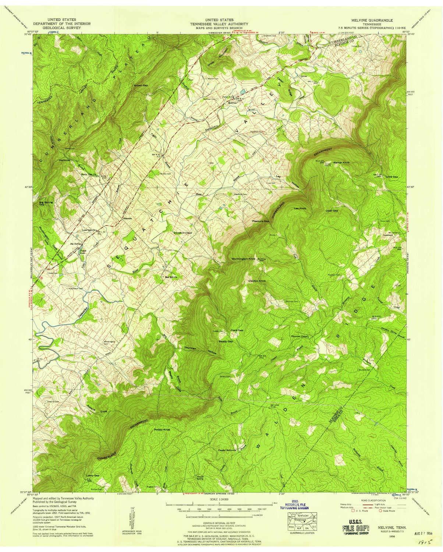 Amazon.com : YellowMaps Melvine TN topo map, 1:24000 Scale ...