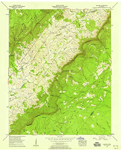 Amazon.com : YellowMaps Melvine TN topo map, 1:24000 Scale, 7.5 X ...