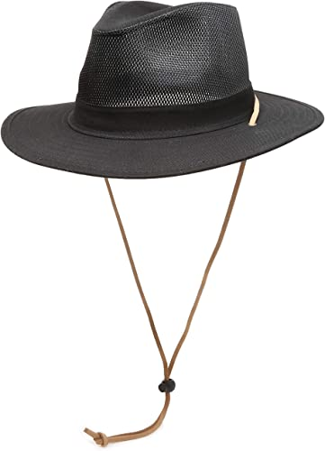 Navy Blue Aussie Boonie Safari Bucket Fishing Outback Drawstring Hat Hats S//M