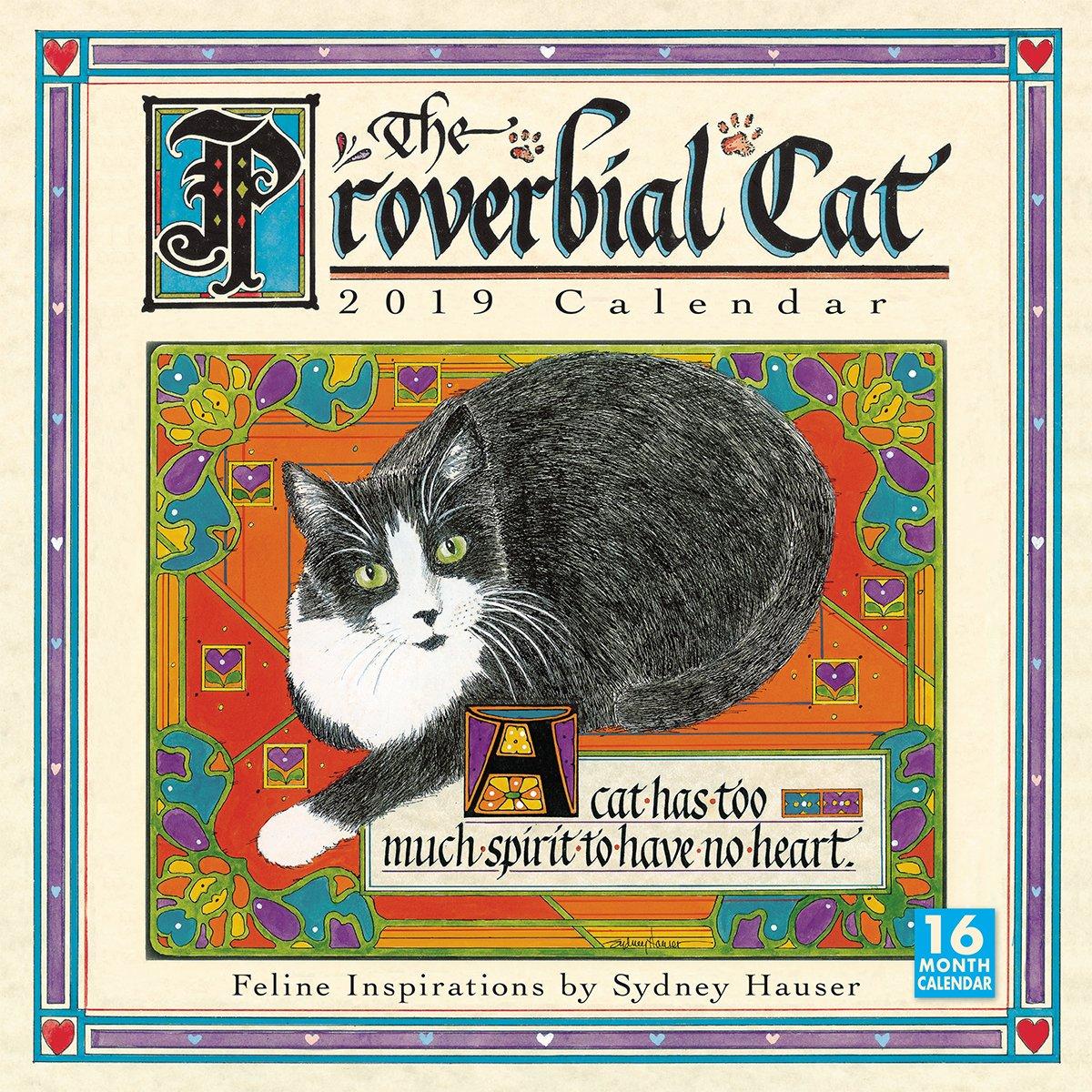 The Proverbial Cat 2019 Wall Calendar