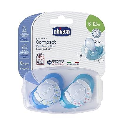 Chicco - Chupete de silicona Compact Chico, 6-16 meses, 2 piezas ...
