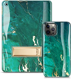 GVIEWIN Marble Case Bundle - Compatible with iPhone 12 Pro Max 6.7