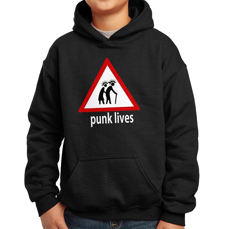 Nutees Punk Lives Rock Heavy Metal Music Unisex Kids Hoodie Ages 3-15 Years