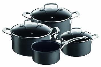 tefal e00797 jamie oliver pentole per induzione set di 4 pezzi colore nero