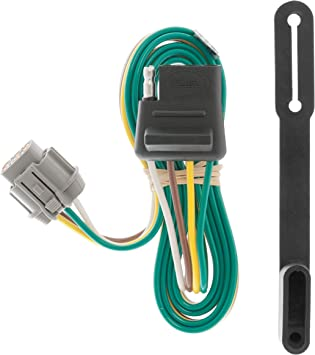 Amazon.com: CURT 55441 Vehicle-Side Custom 4-Pin Trailer Wiring ... nissan wiring diagram color codes Amazon.com