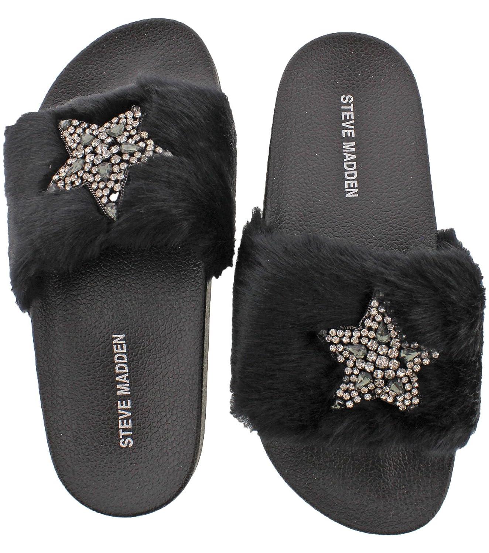4ba00e2e271 Amazon.com | Steve Madden Shimmer Women's Embellished Faux Fur ...