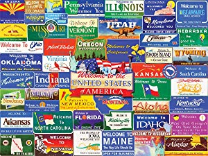White Mountain Puzzles Welcome to America, 1000 Piece Jigsaw Puzzle