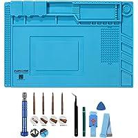 Soldering Mat Silicone Repair Mat Heat Insulation Work Station Magnetic Desk Pad for BGA, Heat Gun, Workbench, Cell…