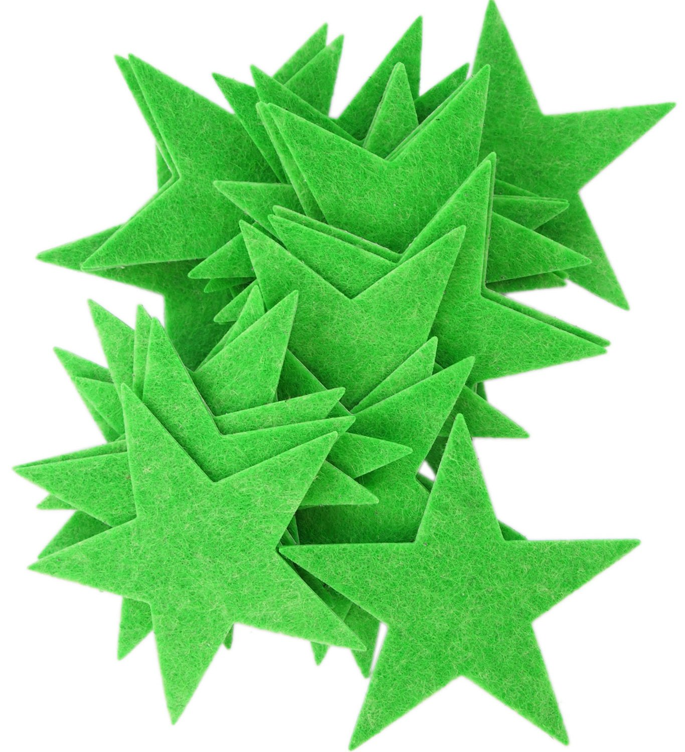 Playfully Ever After 3 Inch Green 22pc Felt Star Stickers