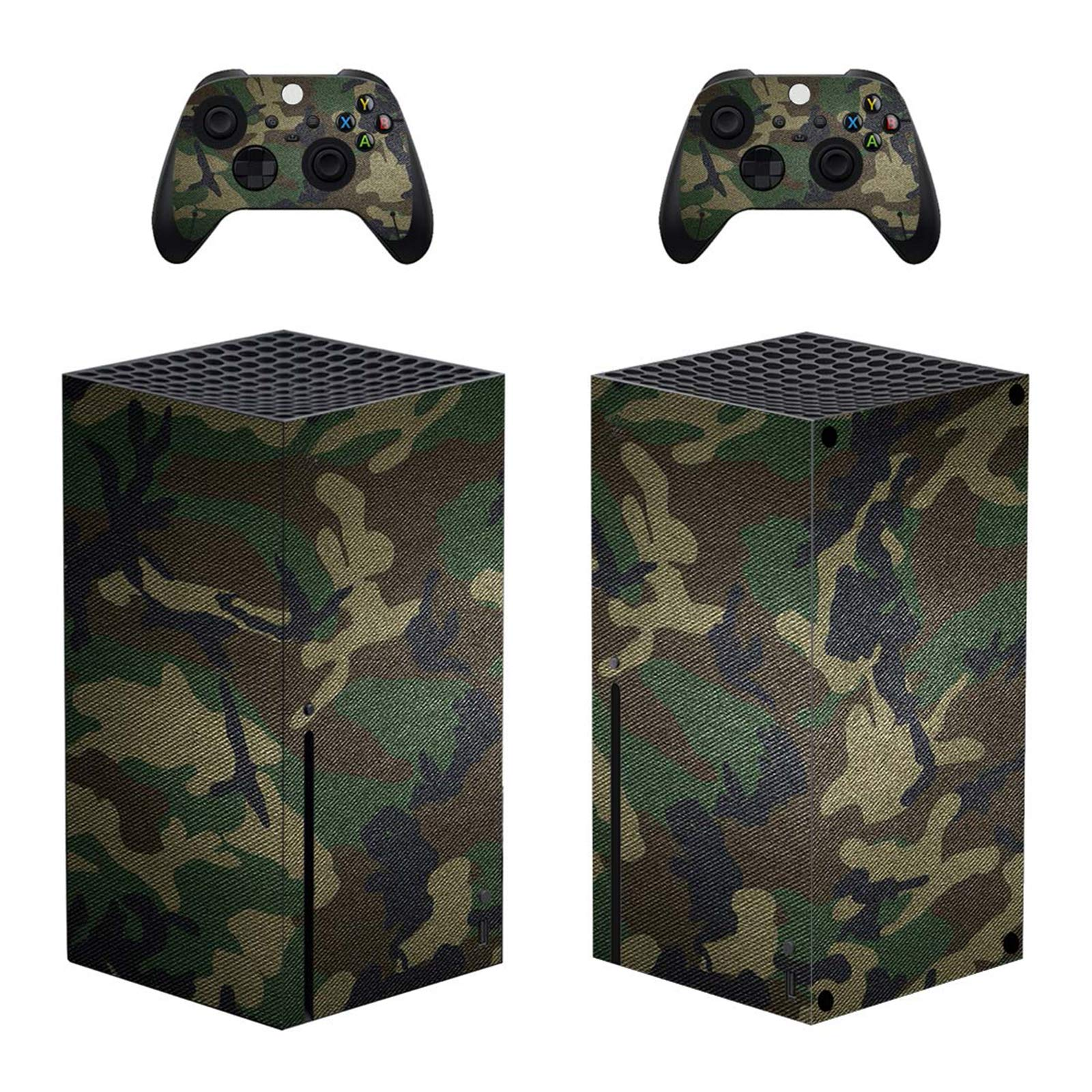 Hihouse Decals Vinyl Skin Sticker for Xbox Series X Camouflage Green