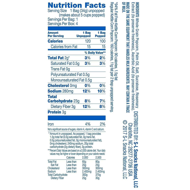 Amazon.com: Pop Secret Popcorn, 100 Calorie Pop, 94% Fat Free Kettle ...