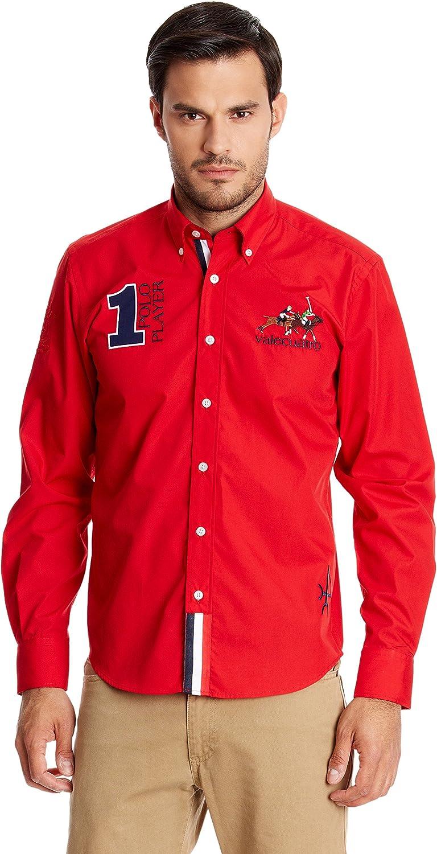 Valecuatro Camisa Hombre Caballos Rojo XL: Amazon.es: Ropa y ...
