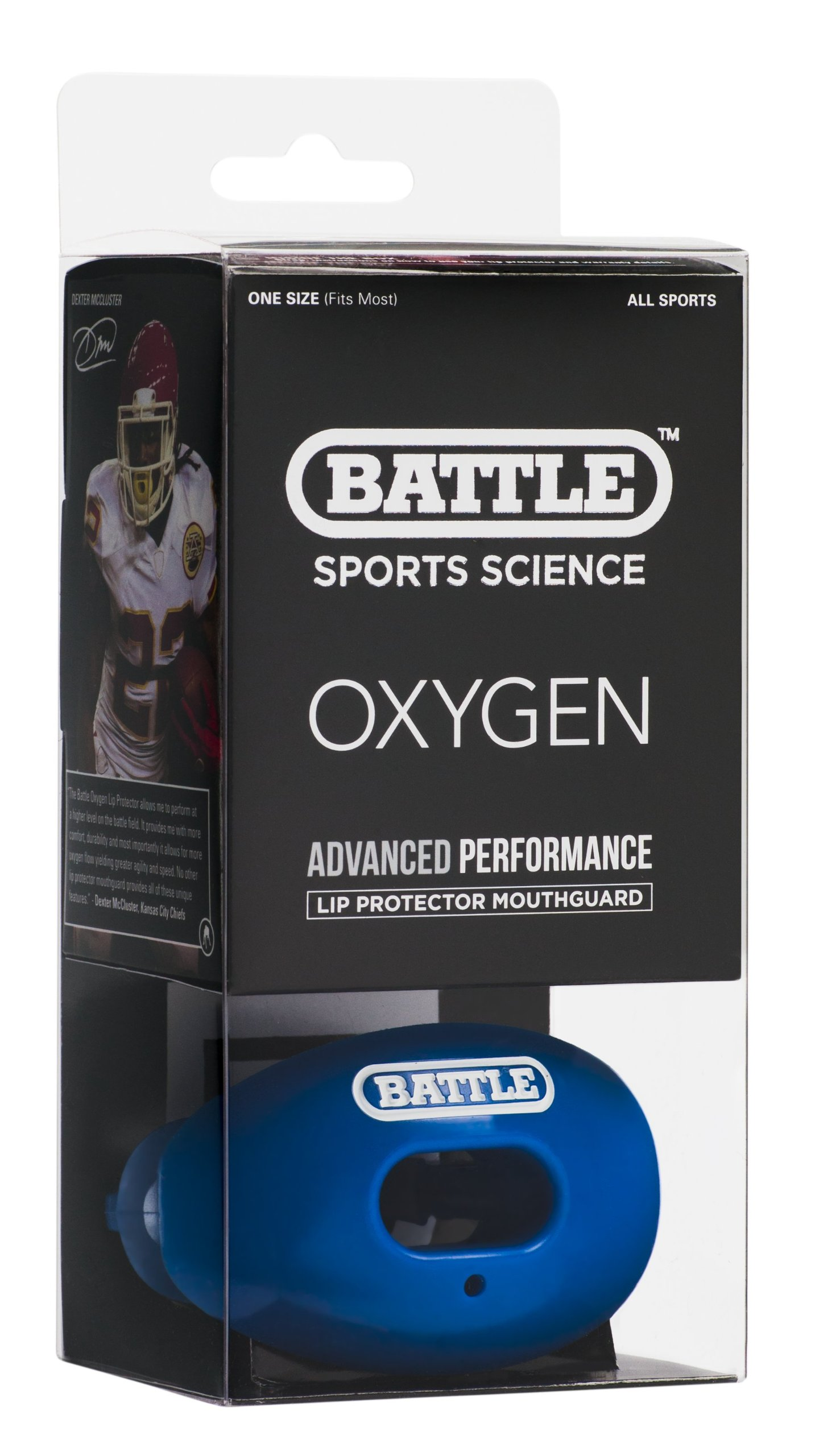 Battle Oxygen Lip Protector Mouthguard, Royal Blue by Battle