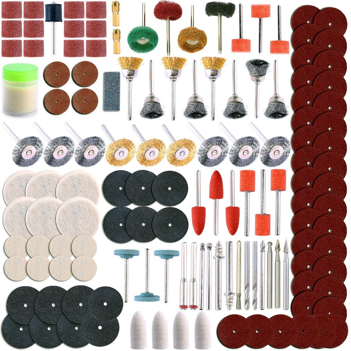350pc Rotary Tool Accessory Set For Sanding, Polishing, Dremel Grinding freebirdtrading