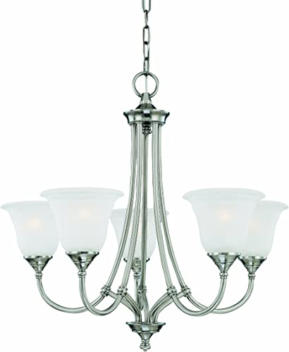 Thomas Lighting SL880141 Harmony 5-Light Satin Pewter Chandelier, 26 L X 26 W X 24 H