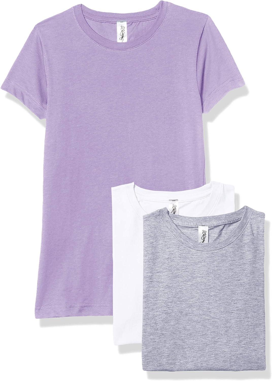 Tampa Mall Marky G Apparel Girls' Regular discount Fine T-Shir Short-Sleeve Jersey Crew-Neck