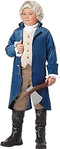 California Costumes George Washington/Thomas Jefferson/Alexander Hamilton and Colonial Child Costume, X-Large