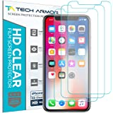 Tech Armor Apple iPhone X HD Clear Film Screen Protector [3-Pack] Case-Friendly, Scratch Resistant, 3D Touch Accurate for New 2017 Apple iPhone X