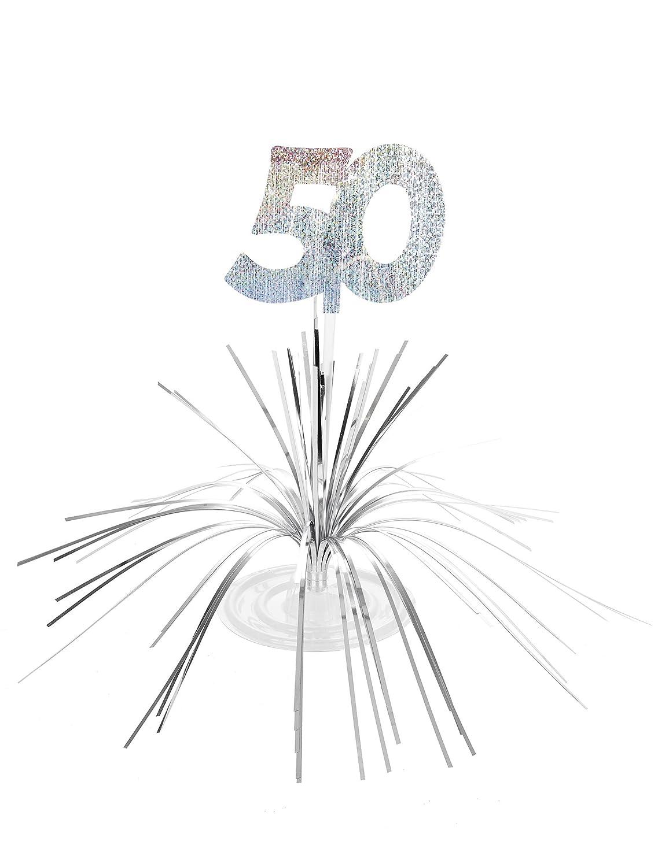 Centre de table anniversaire 50 ans argent Generique