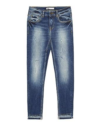c9b09831 Zara Women's Z1975 Skinny Jeans with Asymmetric hems 8228/027 (36 EU) Blue